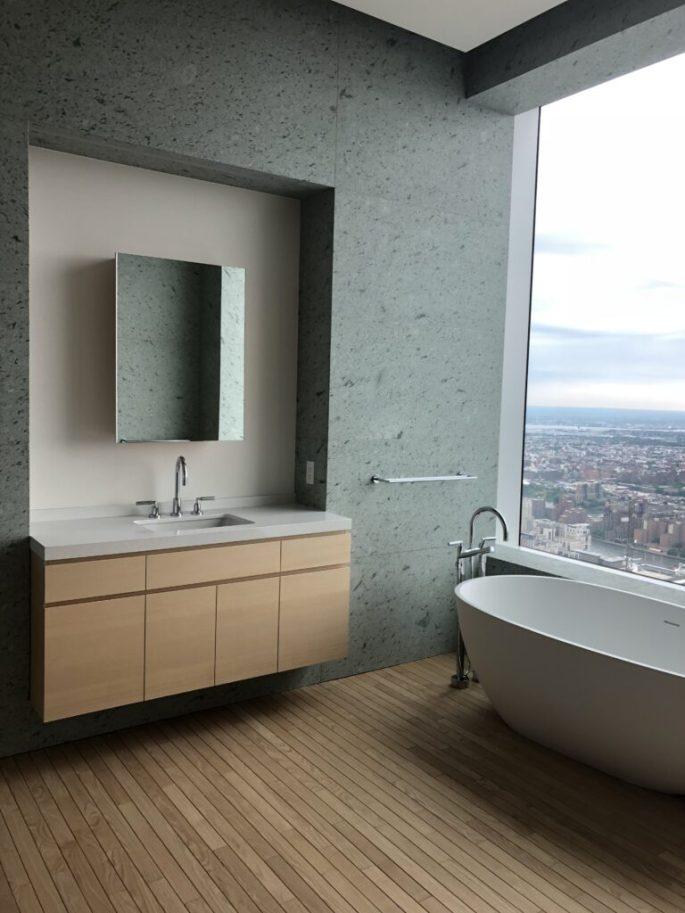 432 Park Ave bathroom 3 vanity and bathtub in Japanese marble