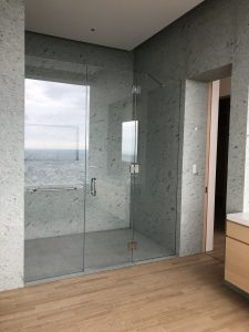 432 Park Ave bathroom 3 shower floor and walls in Japanese marble
