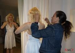 Julia y nuestra estilista Maria Navarro - Photo: Manuel Torres