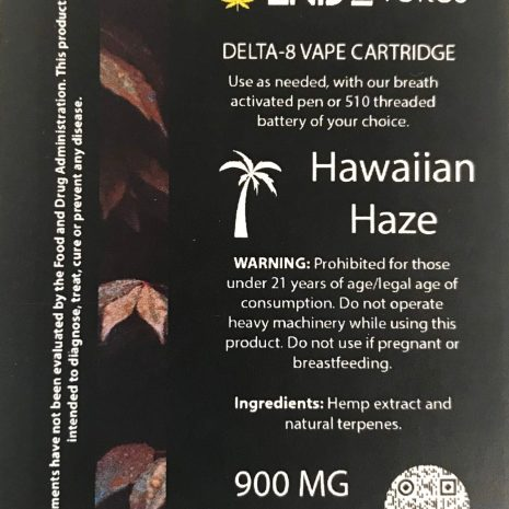 Endo delta 8 hawaiian haze 1ml cartridge
