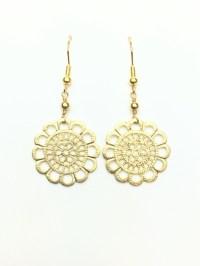Gold Filigree Earrings Gold Filigree Earrings Ebay ...