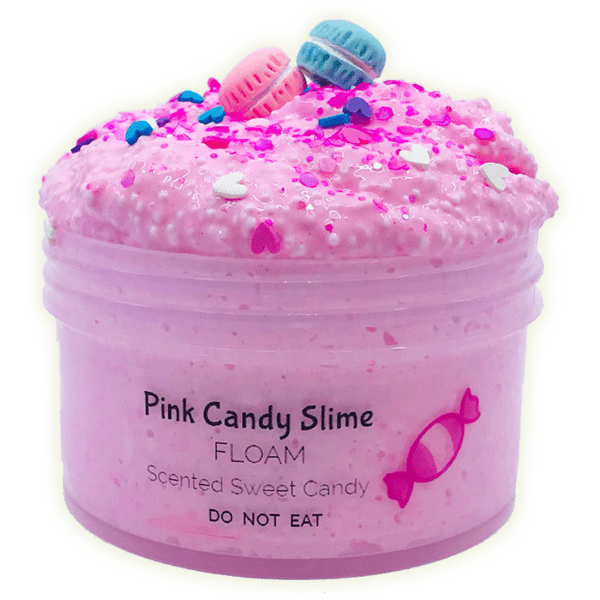 Pink Candy Floam Crunchy Slime