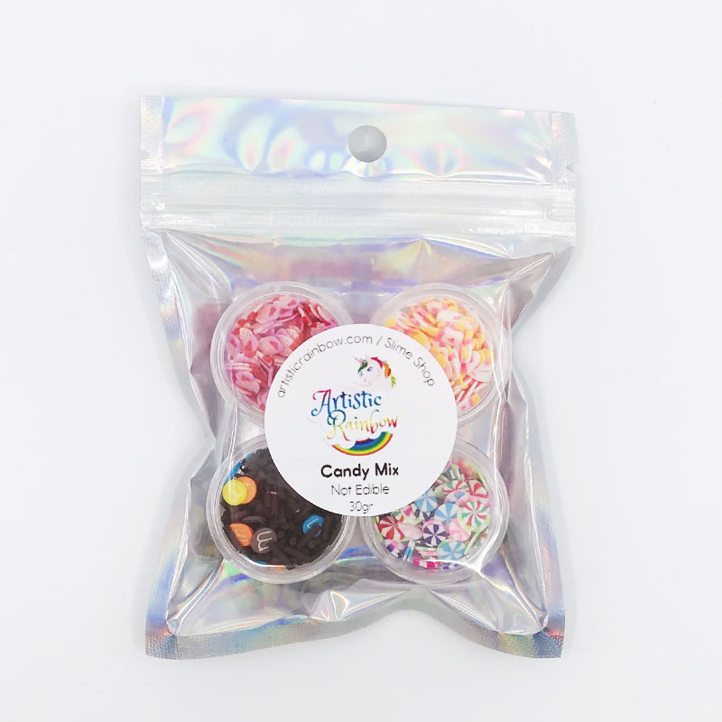 Sprinkles candy mix slime
