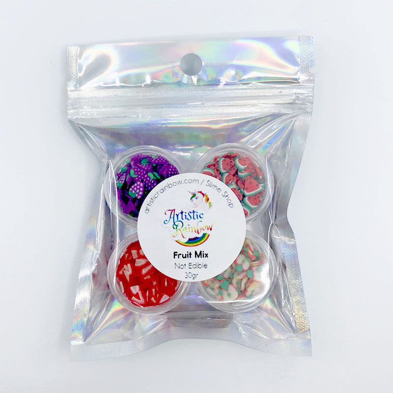 Fruit fimo slices mix for slime