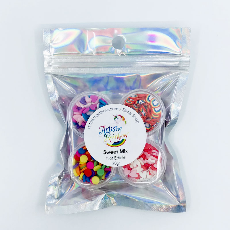 Sprinkles fimo slices sweet mix