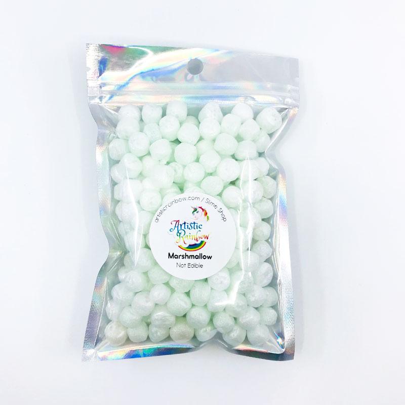 White marshmallow foam beads