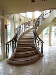 Flared Staircase | Custom Stairs | Artistic Stairs