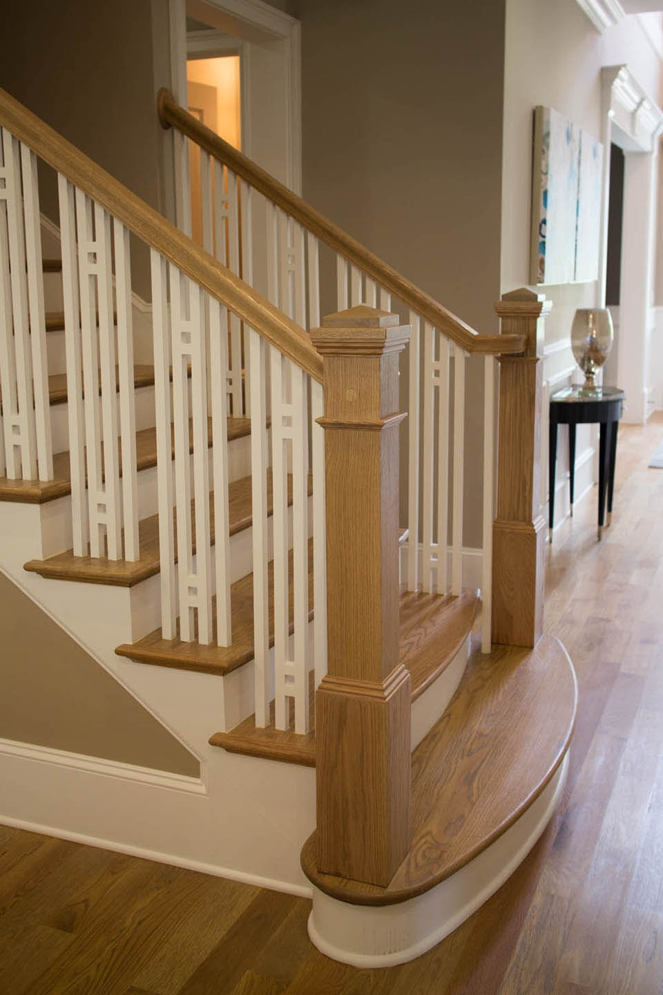Craftsman Staircase Design Artistic Stairs   Craftsman Style Stair Railing