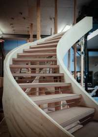 Modern Curved Stairs: A Progressive Story