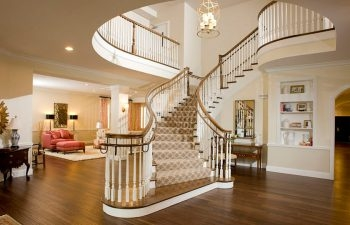 Southern Charm Sorority Home Curved Staircases Part 2 Southern | Home Interior Stairs Design | Wall | L Shaped | Elegant | American | Creative