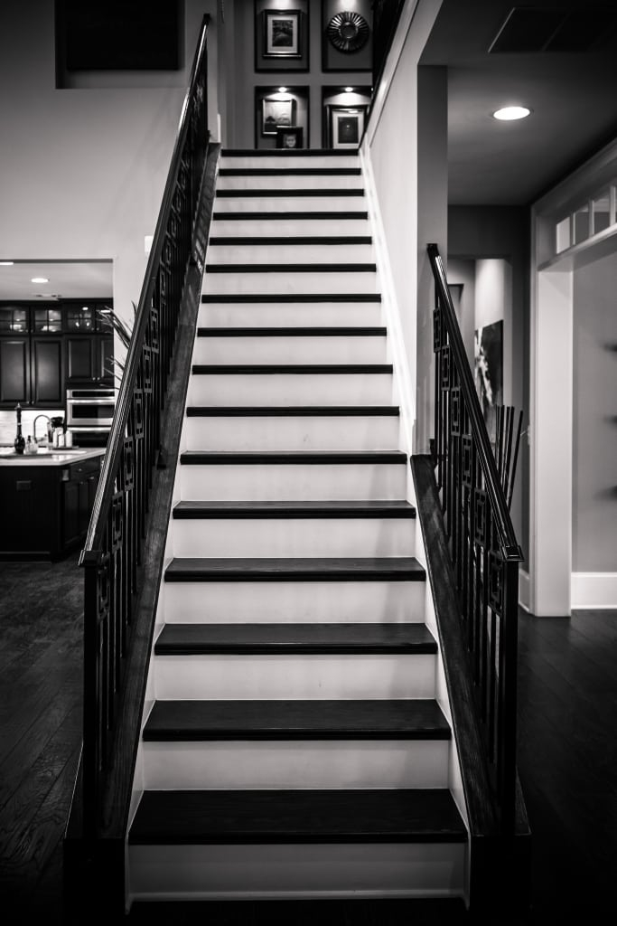 Wrought Iron Stair Railings An Upgrade From Traditional Metal   Black Iron Stair Railing   Industrial   Iron Baluster   Rectangular Iron   Horizontal   Contemporary