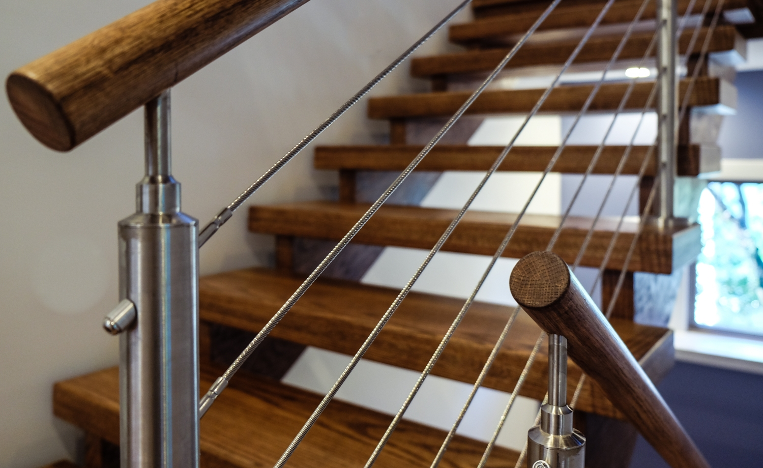 3 Popular Types Of Stair Railing Designs Southern Staircase | Wooden Hand Railing Designs | Light Wood | Residential Industrial Stair | Wood Panel | Decorative Glass | Scandinavian
