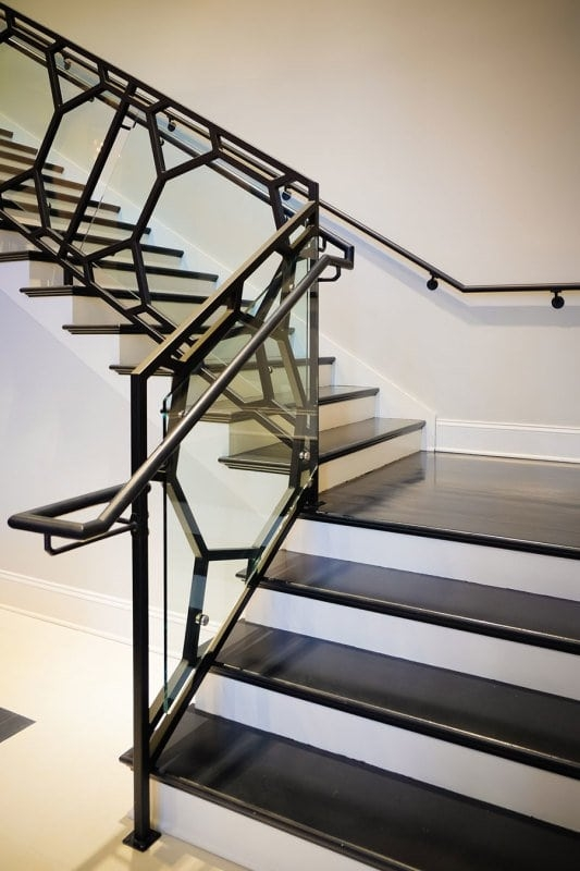 Modern Railing Design Southern Staircase Artistic Stairs | Modern Stair Hand Railing | Stainless Steel | Decorative | Creative Outdoor Stair | Glass | Solid Wood