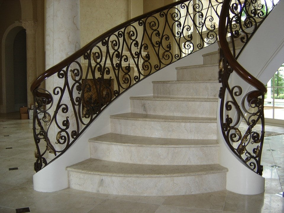Wrought Iron Stair Railing Southern Staircase Artistic Stairs | Wood And Iron Stair Railing | Banister | Reclaimed Wood | Wrought Iron Staircase Used | Ss Railing Design | Metal