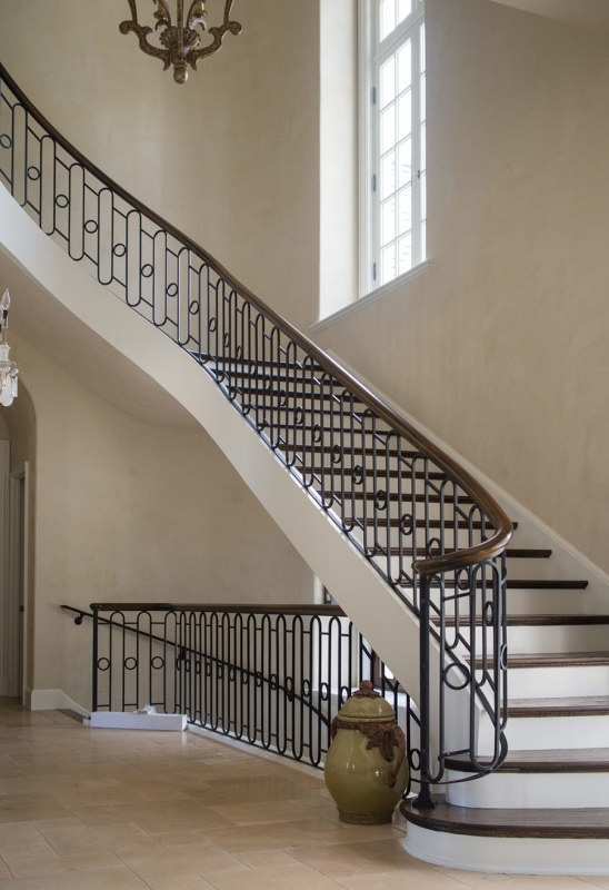 Wrought Iron Stair Railing Southern Staircase Artistic Stairs   Iron Stair Railing Indoor   Interior Wrought   Wood   Cast Iron Balusters   Rod Iron   Railing Kits