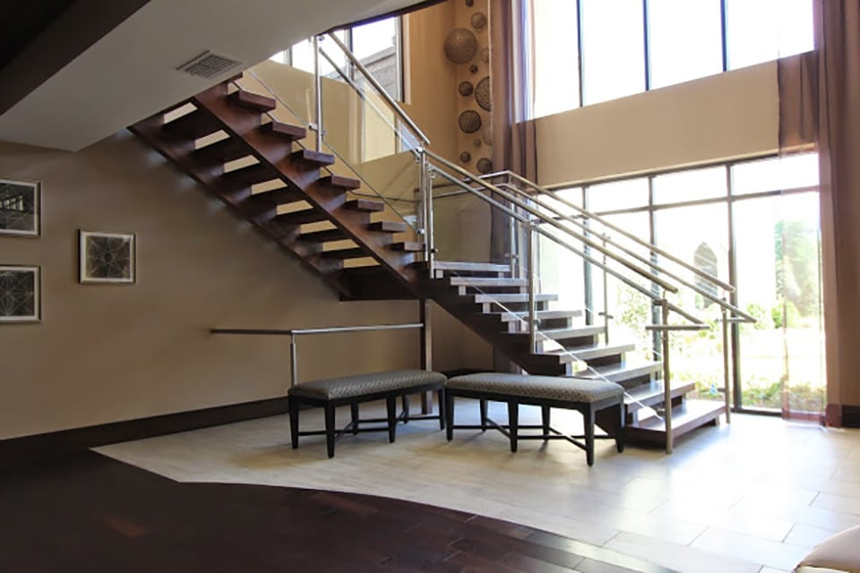 Open Riser Stairs Southern Staircase Artistic Stairs