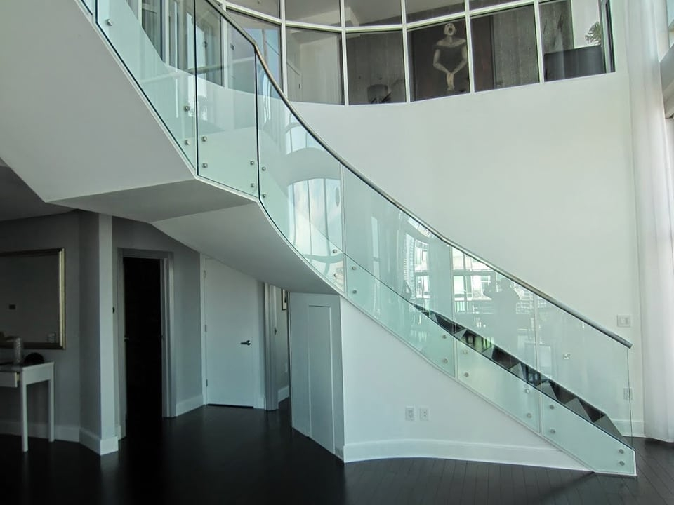 Glass Stainless Southern Staircase Artistic Stairs   Stairs Railing Designs In Steel With Glass   Balcony   Wooden   Modern   Guardrail   Stainless Steel