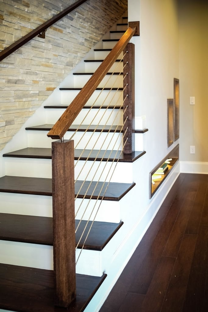 Cable Railing Systems Southern Staircase Artistic Stairs | Metal Wire Stair Railing | Handrail | Contemporary | Balcony | Steel Structure | Indoor