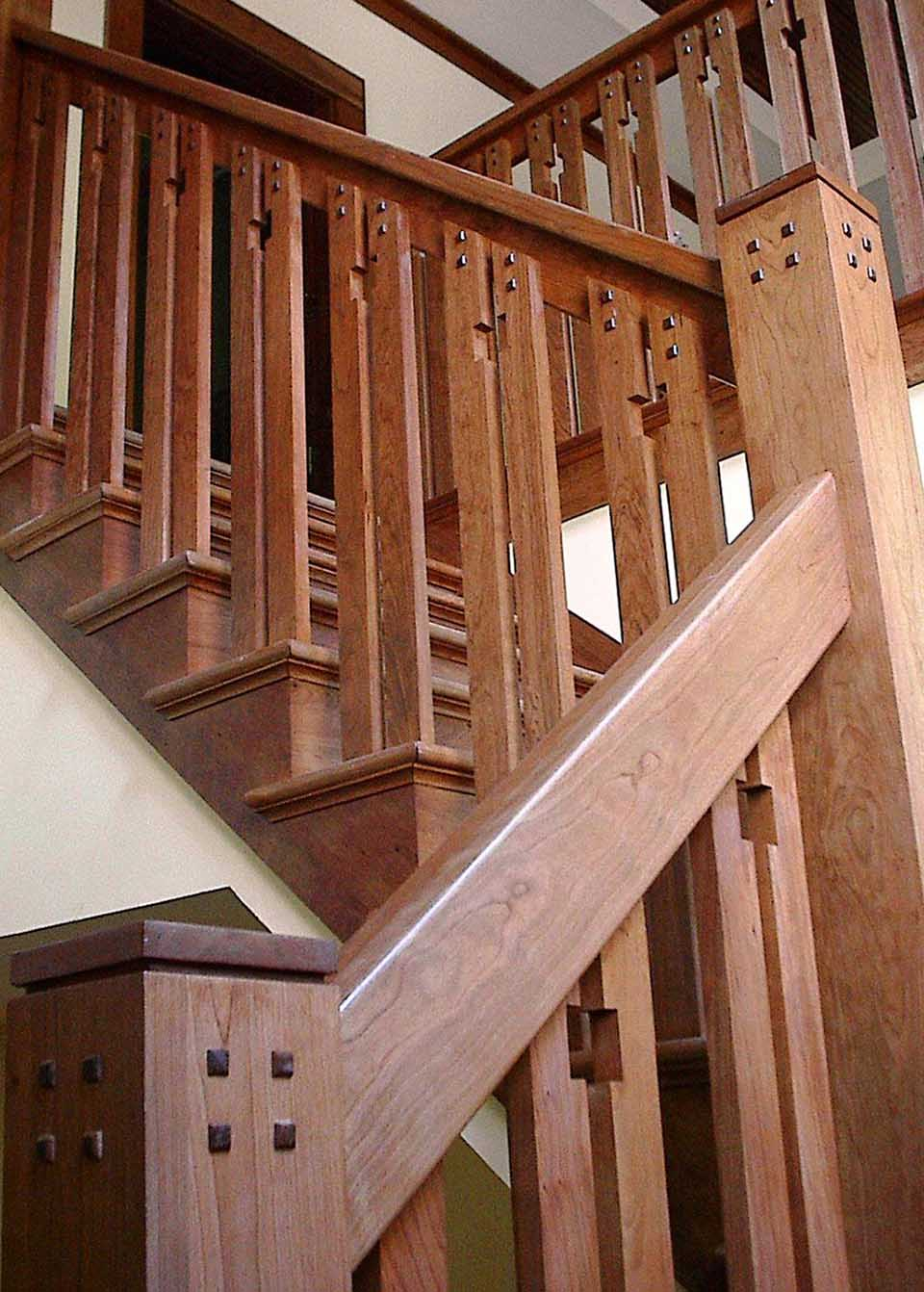 Craftsman Staircase Design  Southern Staircase  Artistic