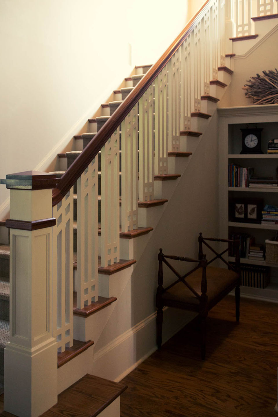 Craftsman Staircase Design  Southern Staircase  Artistic Stairs