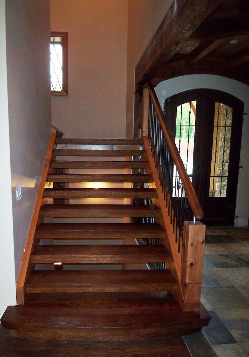 Rustic Staircase Southern Staircase Artistic Stairs   Rustic Handrails For Stairs   Basement   Wooden   Banister   Metal   Deck
