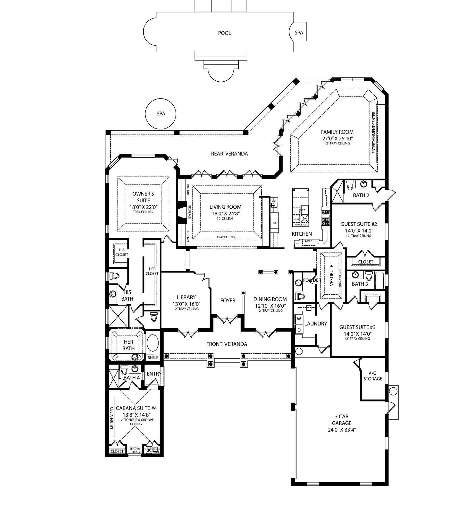 2d Traditional Floor Plan