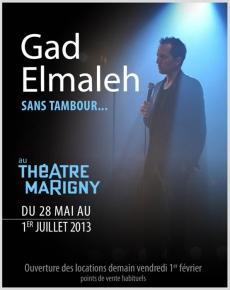 Gad El Maleh Sans Tambour : maleh, tambour, Elmaleh, Tambour, Théâtre, Marigny, Artistikrezo
