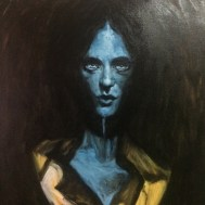 """""""Shadow Bust"""" Oil on canvas mounted on panel."""