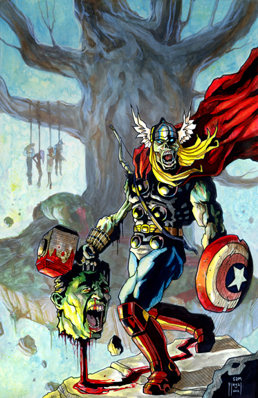 Zombie Thor Vs The Avengers An Artists Journey