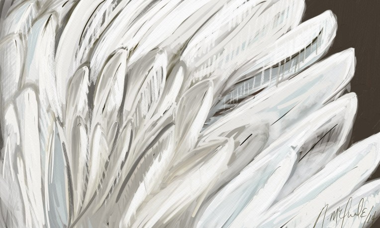 Feathers 3 b yCanadian Artist Naomi McQuade