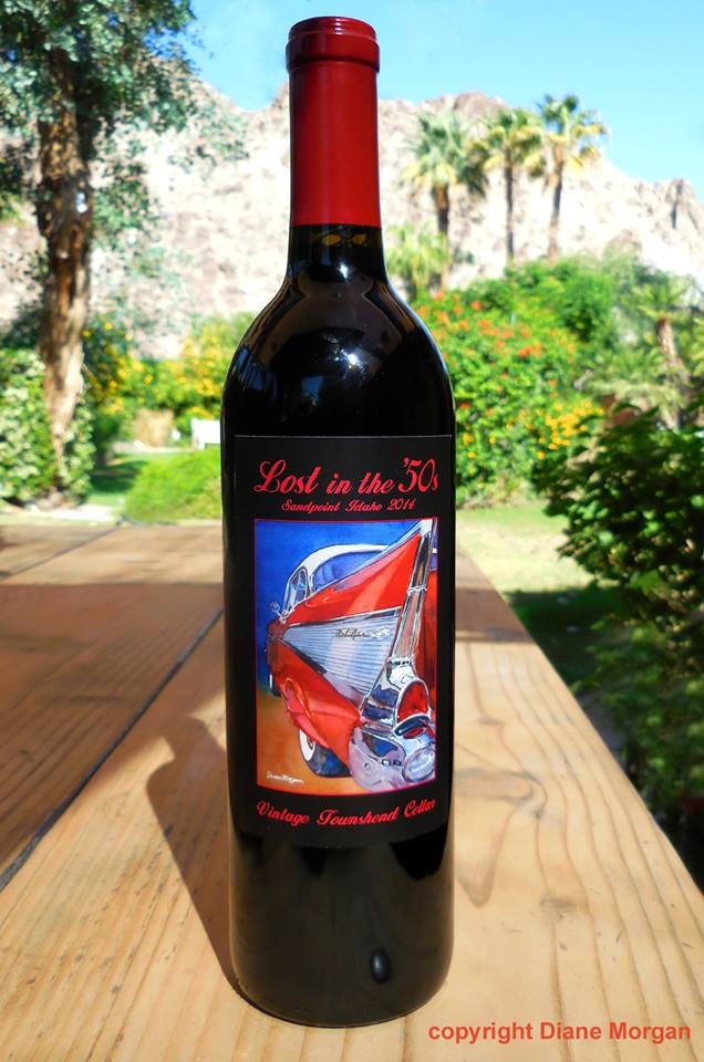 Lost in the 50s Wine Label, Sandpoint Idaho Car Show 2014