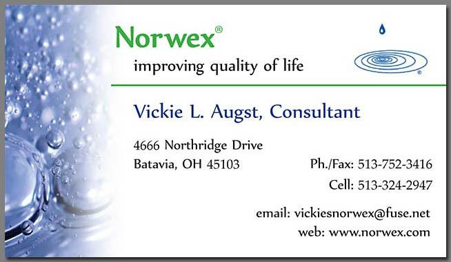 Design Business Cards Norwex Representative Vickie Augst