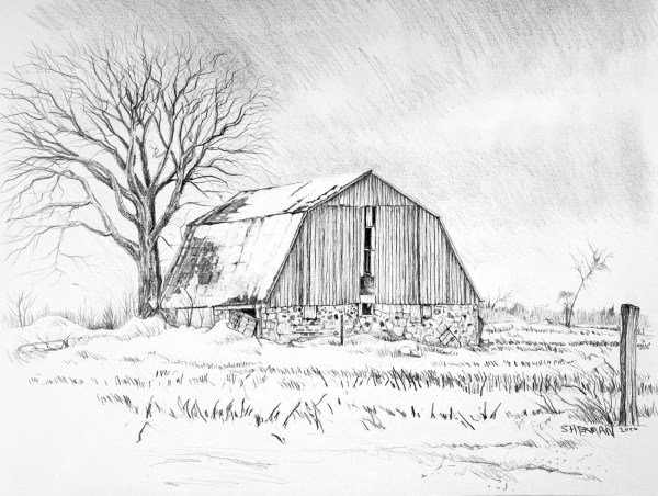 A drawing titled Freezing Rain Barn