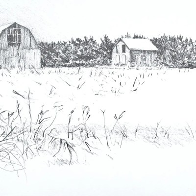 A drawing of a farm called Wade Caru