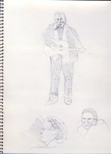 "A sketch of singer activist Floyd ""Red Crow"" Westerman"