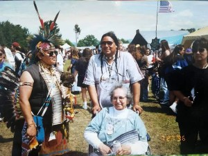 A pow wow photo featuring my cousins Jerry and Alice Curtis and Glenn Bressette