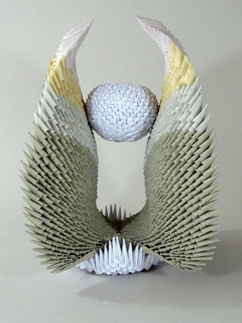 Francene Levinson Title: Phoenix Medium: paper sculpture Size: 15in.H x 11in.W x 11in.D
