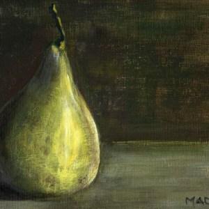 "Marta Madison - Crows Nest, Australia Title: Pear Medium: acrylic Size: 8"" x 10"""