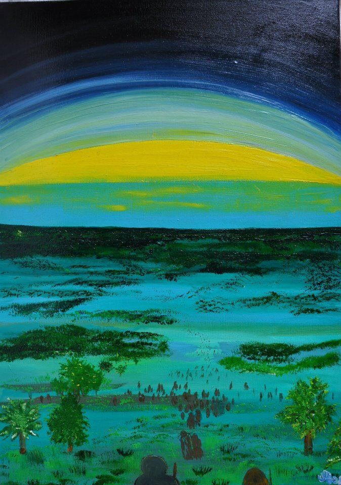Miro Tomarkin - London, UK Title: THE GATHERING Medium: OIL ON CANVAS Size: 71 / 51 cm