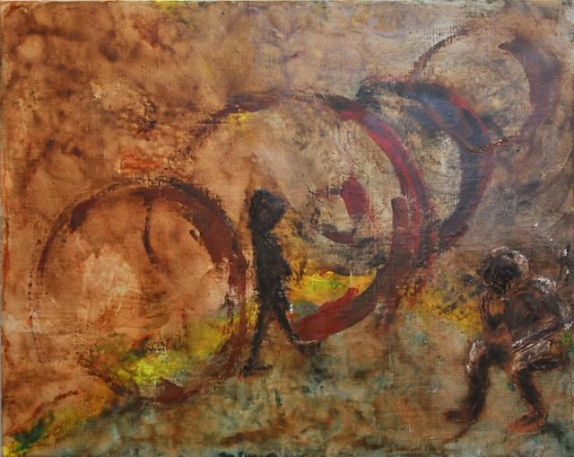 Dianne K Webb - Houston, TX - International Art Submission Title: Transformations Medium: Encaustic on Linen Size: 24x30