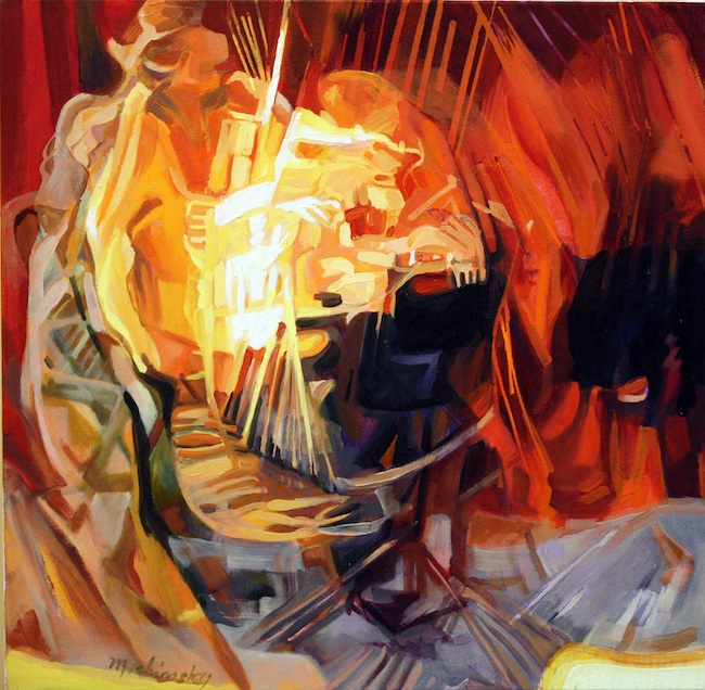 "Marc Schimsky Title: Vision of Music #2 Medium: Oil Size: 30""x30"""
