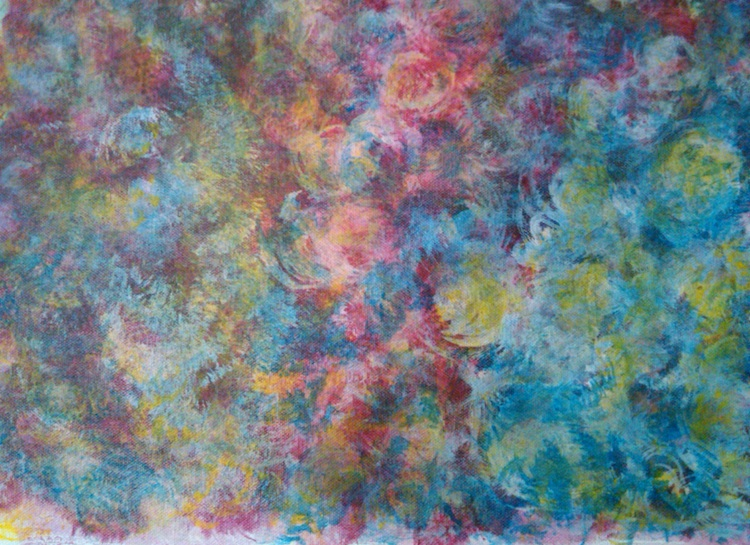 Title: Tie-Dyed Roses Medium: Acrylic Size: 12 x 18 inches