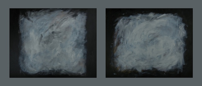 "Matthew Felix Sun Title: Diptych - Dawn Medium: Acrylic and Oil on Canvas Size: 24""x30"" & 24""x30"""