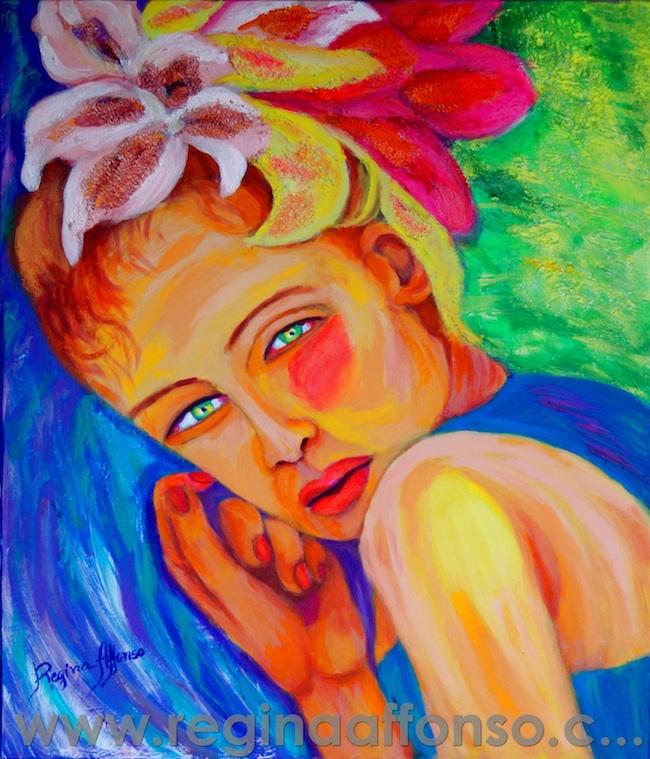 Title: Woman-model Medium: acryl. on canvas Size: 70X60cm
