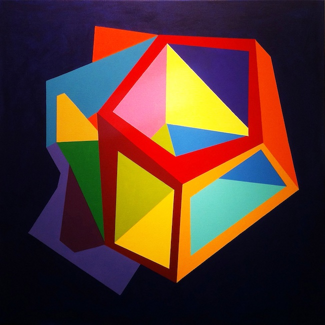 "Title: Outside the Box Medium: Acrylic on canvas Size: 36"" x 36"""