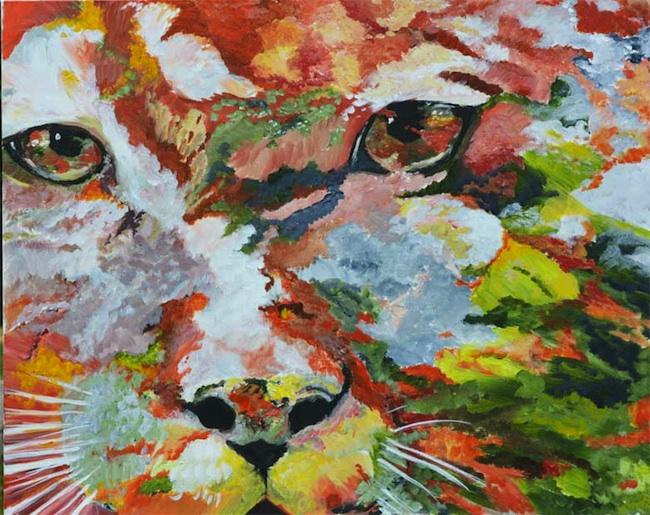 Title: Cougar Camouflage Medium: acrylic Size: 30 x 24
