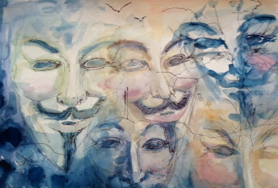 Title: Vendetta Medium: watercolor Size: 24x34