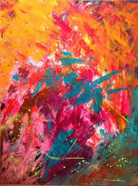 Title: catalyst Medium: acrylic & spray paint on canvas Size: 30 X 40