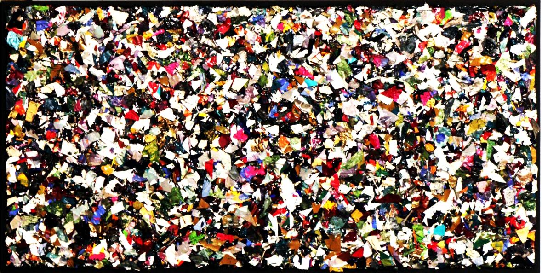 "Title: Bubblegum Alley Medium: Palette Art Acrylic Size: 60"" x 30"""