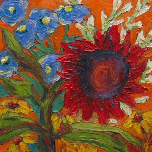 Title: Sunflower Bouquet 7 Medium: Oil Painting Size: 6x6